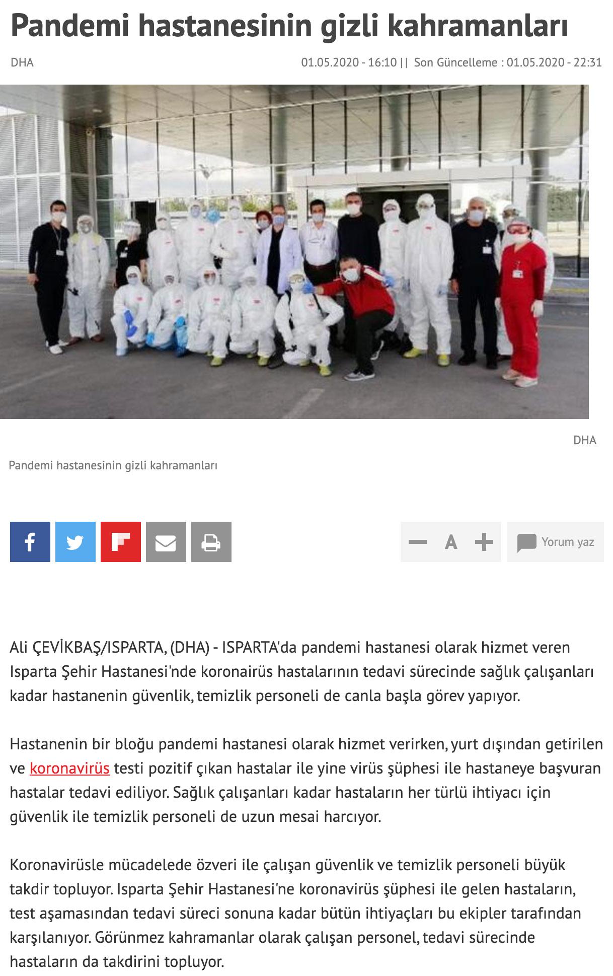 pandemi hastanesinin gizli kahramanları..._
