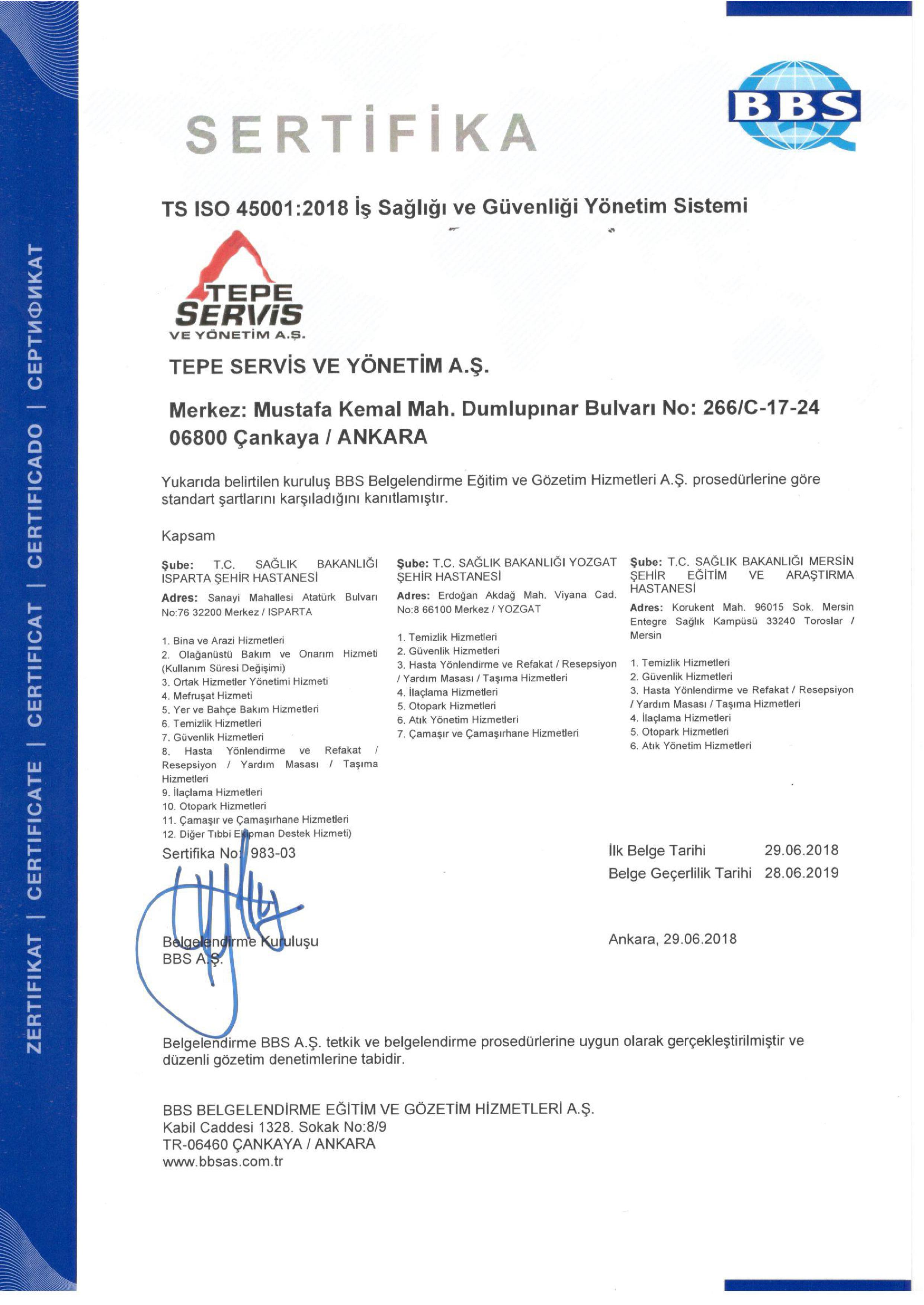 PPP PROJELER - ISO 45001