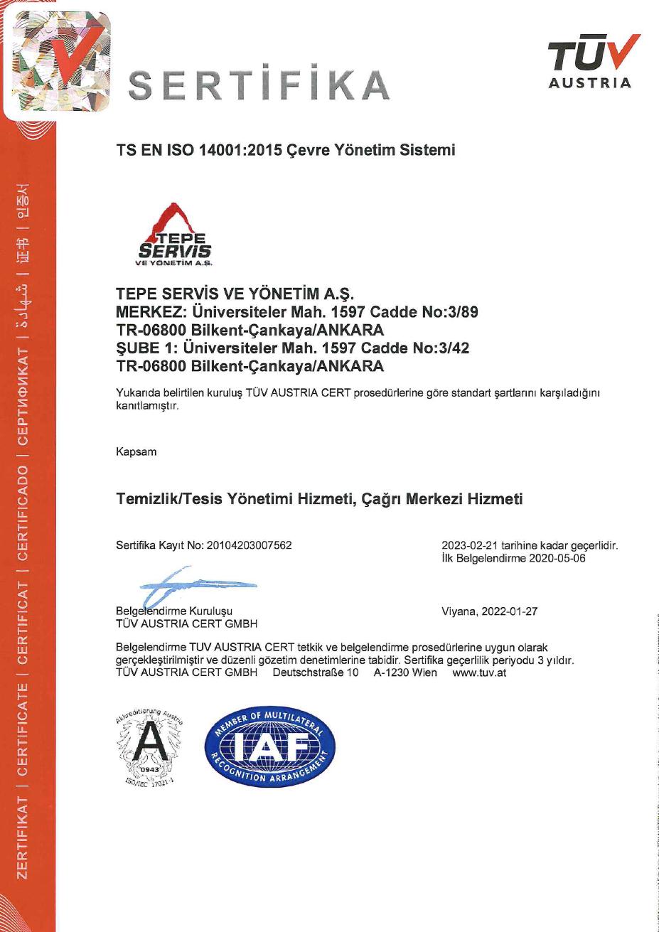 PPP PROJELER - ISO 14001