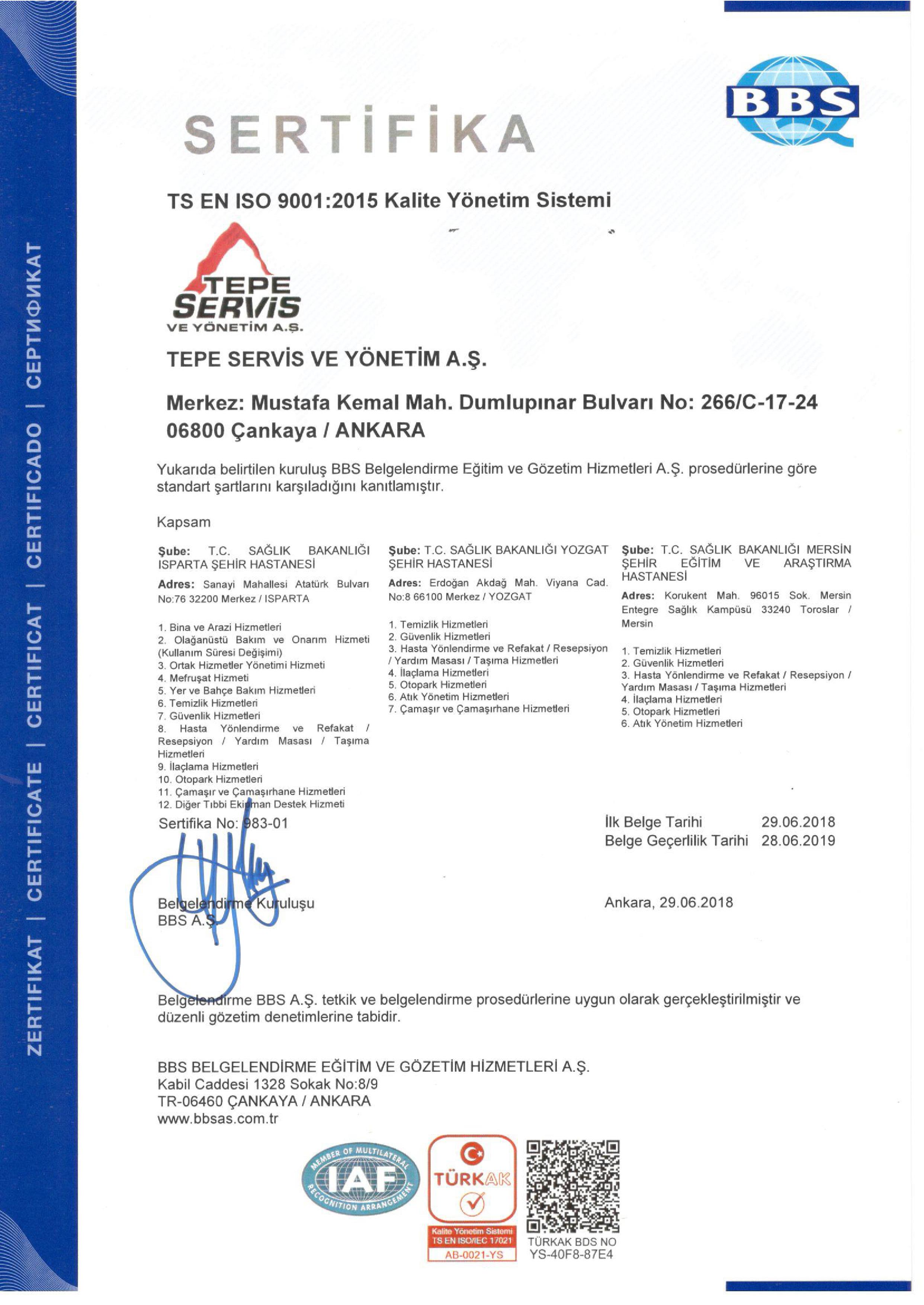 PPP PROJELER - ISO 9001