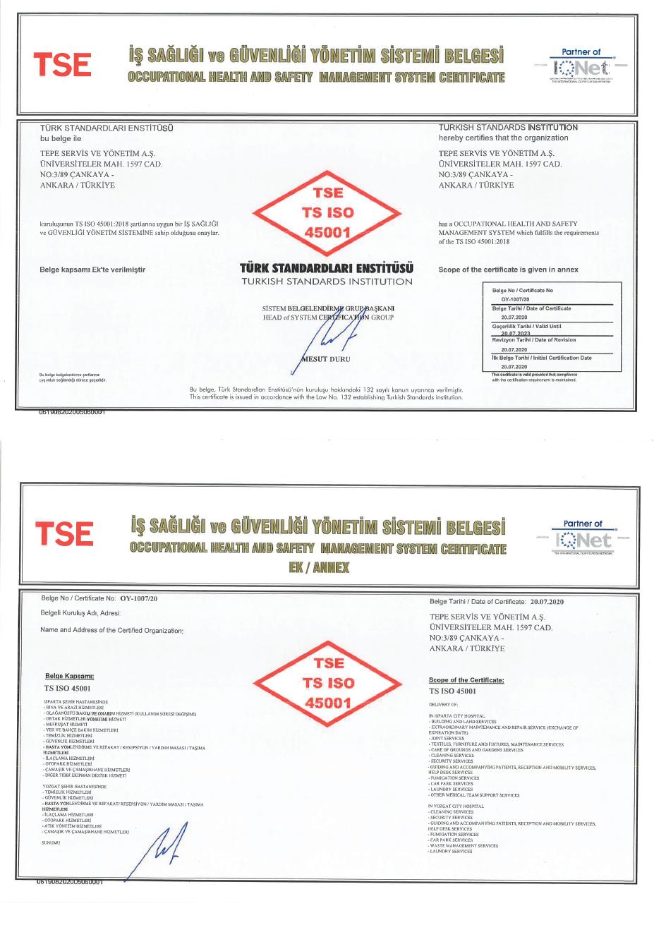 Yozgat Şehir Hastanesi PPP Projesi ISO 45001